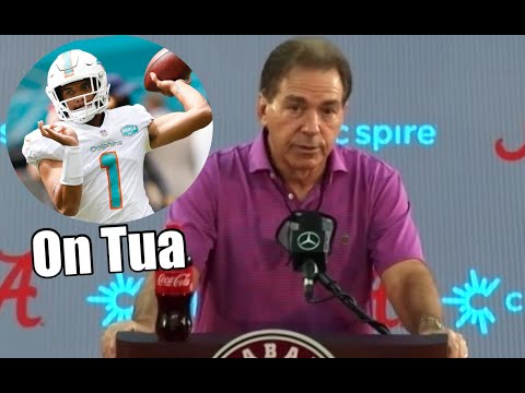 Nick Saban talks Tua Tagovailoa getting onto the field for the Miami Dolphins