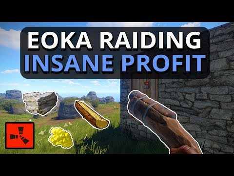 Eoka RAIDING For MAD Resource PROFIT!! Rust Solo Survival Gameplay