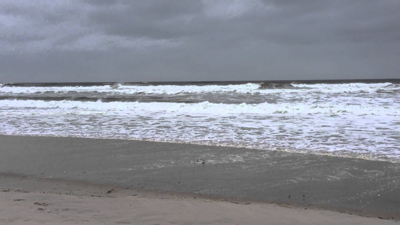Hurricane Sandy Kicks Up Huge Waves On Jones Beach