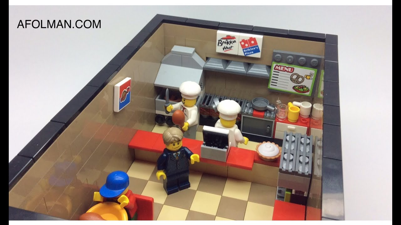 How To Make A Lego Pizza Kitchen