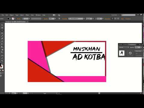 HOW to MAKE business card design adobe illustrator tutorial thumbnail
