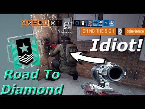 Idiot Maverick! Road To Diamond - Rainbow Six Siege Funny Moments