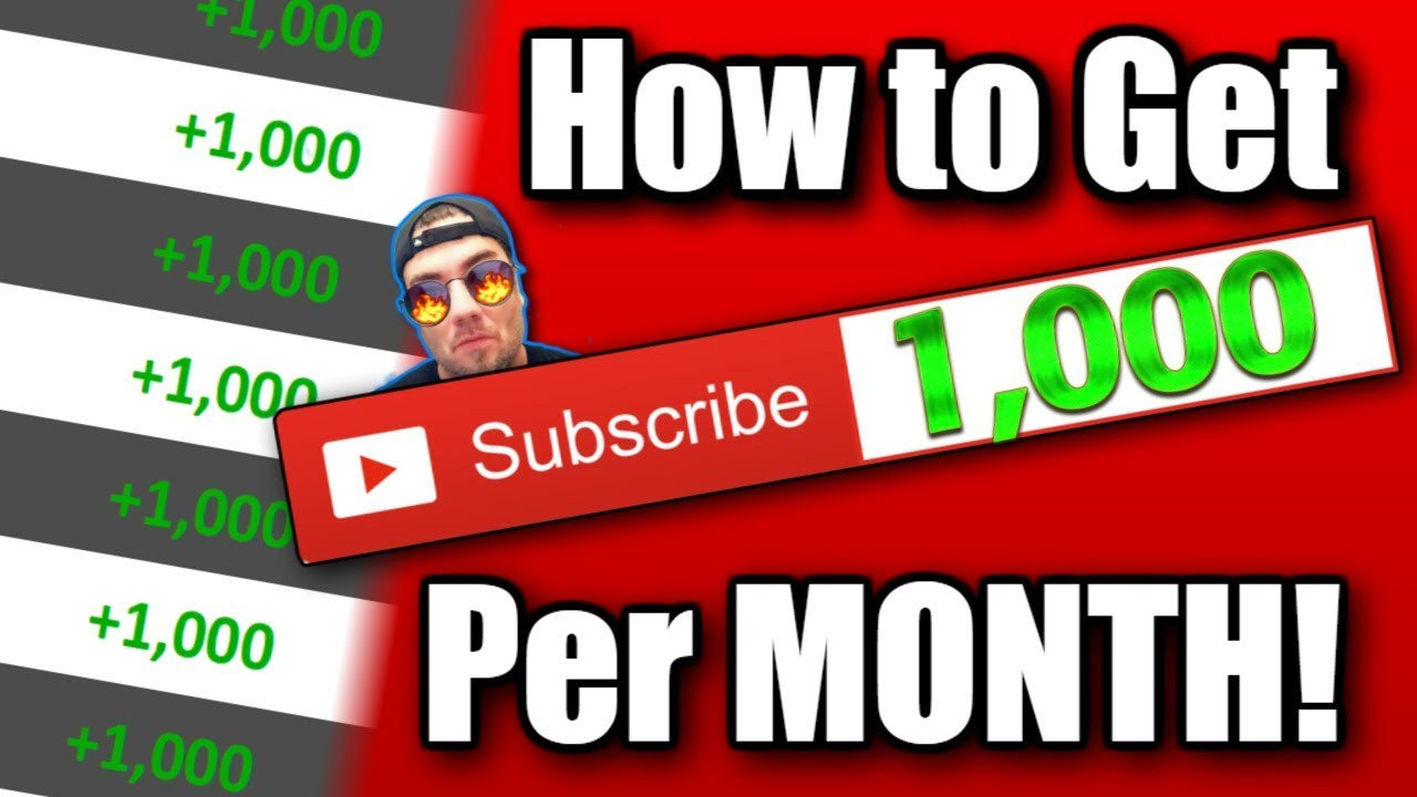 How to get 1000 Subscribers a Month on Youtube for Free!
