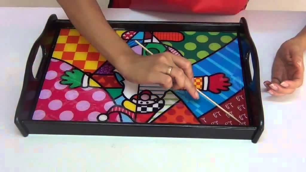 Curso arte country madera navidad ot youtube - Decorar madera con pintura ...