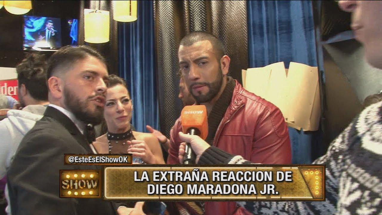 La extraña reacción de Diego Maradona Jr. - YouTube