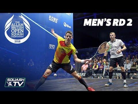 Squash: Allam British Open 2018 - Men's Rd 2 Roundup [Part 2]