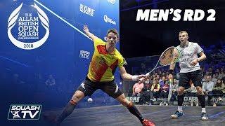 Squash: Allam British Open 2018 - Men\'s Rd 2 Roundup [Part 2]