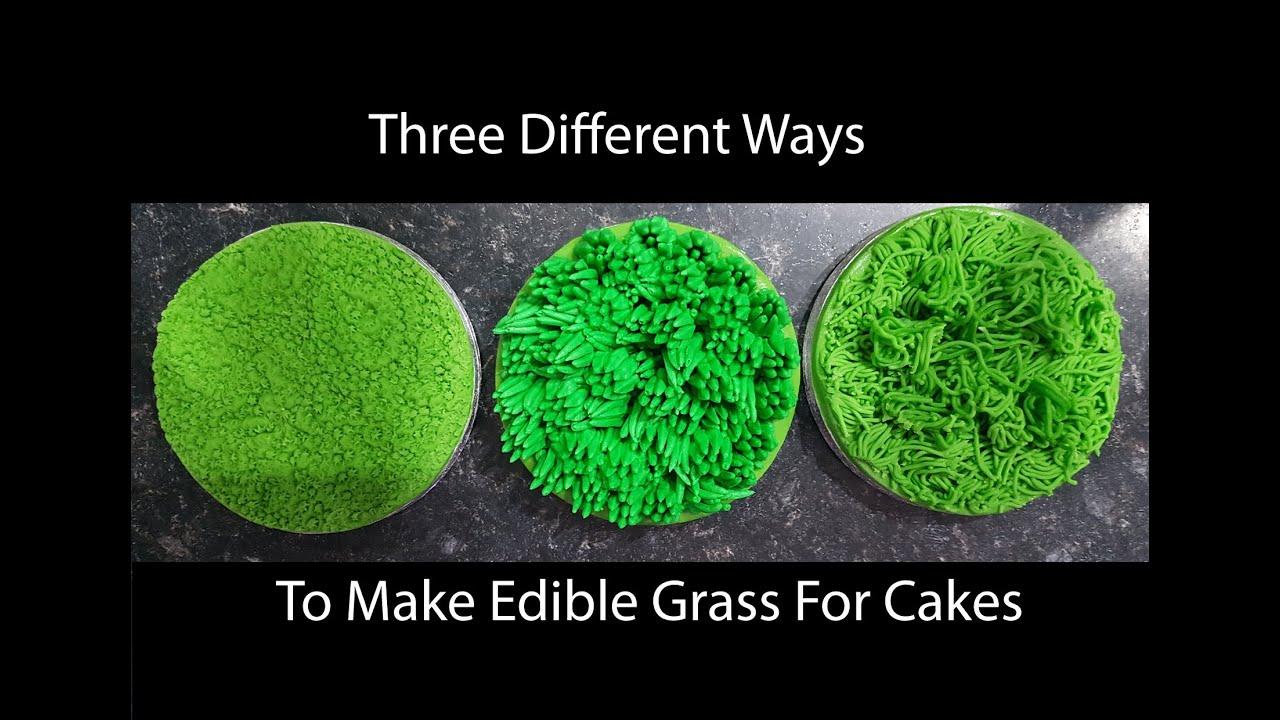 Cake Decorating How To Make Grass