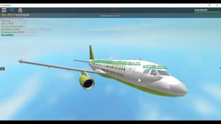 ROBLOX-Green Jet Airlines a319 FLIGHT(SOMEONE GETS SET ON FIRE)