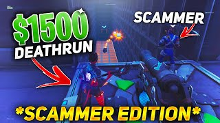 The $1500 SCAMMER Deathrun For His Weapons Back! (Scammer Gets Scammed) In Fortnite Save The World