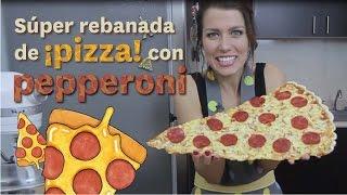 SÚPER REBANADA DE PIZZA CON PEPPERONI  DACOSTA'S BAKERY