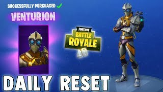 NEW VENTURION SKIN!! Fortnite Daily Reset NEW Items in Item Shop Fortnite Battle Royale