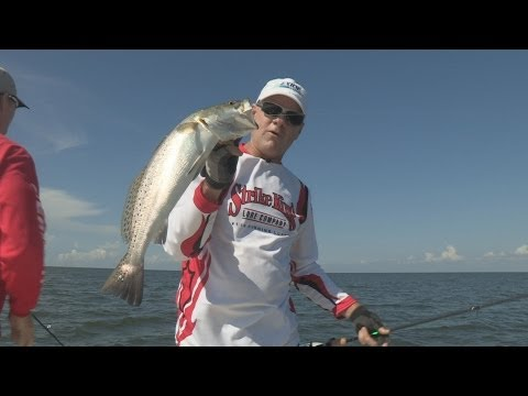 Southwest Outdoors Report #27 - Trinity Bay, Texas Speckled Trout Fishing - 2013