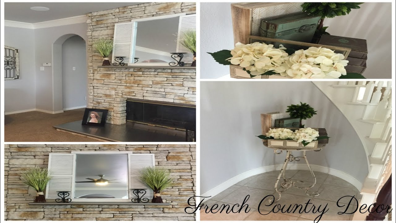 Fireplace Mantel Staircase Decor French Country