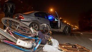 В Днепре на Большой Диевской BMW сбил велосипедиста: проезд затруднен