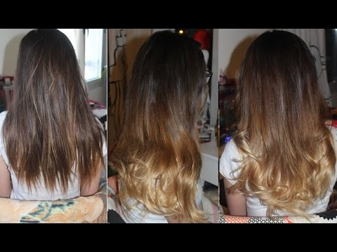 Super comment réussir un tie and dye dégradé marron et blond - YouTube FT23