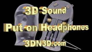 Virtual 3D Sound Use Headphones (Close Ur Eyes)