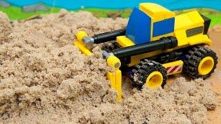 Машинки мультфильм - Мир машинок - 135 серия:  Спецтехника, Бульдозер.Развивающий мультик для детей.