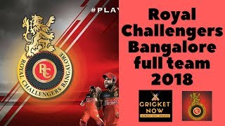 Royal Challengers Bangalore Team for IPL 2018 | RCB team for ipl 2018