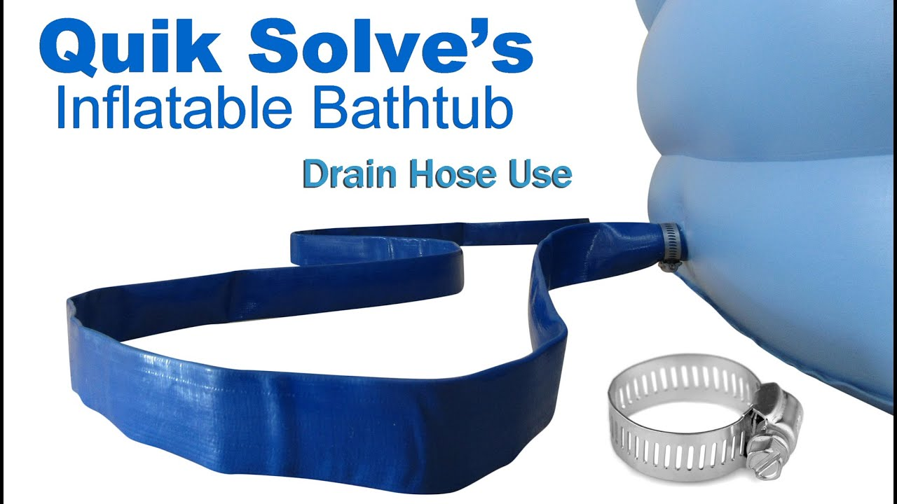 Adult Inflatable Bathtub Drainage - YouTube