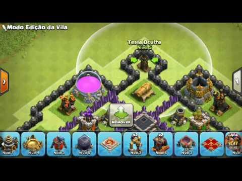 Melhor Layout Th9/Cv9  Híbrido 2016 Clash of clans
