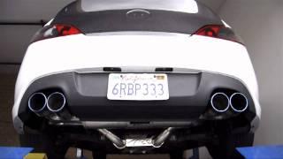 "ARK Performance: Hyundai Genesis 3.8L Dyno ARK DT-S 3"" Exhaust System at FSR Motorsport"