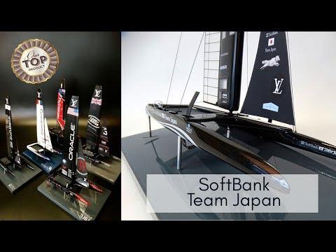 SoftBank - Team Japan - Catamaran AC 50 - 2017 desk model