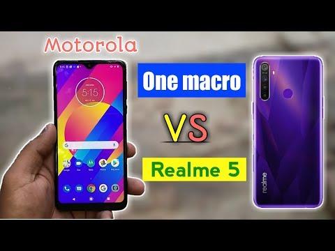 Motorola one macro vs realme 5 full comparison video in Hindi