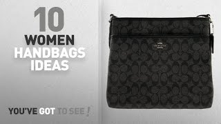Top 10 Coach Handbag [ Winter 2018 ]: COACH Signature Coated Canvas File Bag Crossbody, F58297