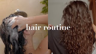My Natural Curly/Wavy Hair Routine 2019   Gemary