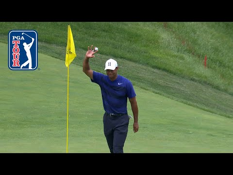 Tiger Woods' hole out for eagle at the Memorial