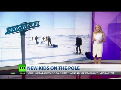 Russian teens set out on daring trip to North Pole