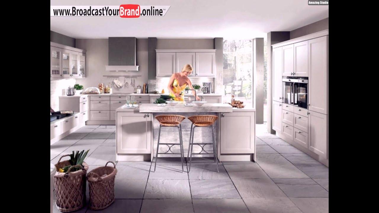 Weiße Küche Mit Kochinsel Marmor Arbeitsplatte Klassische ...