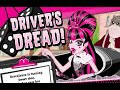 Монстр Хай. Дракулаура учится водить . Monster High.Эпизод игры