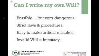 Can I Make My Own Will
