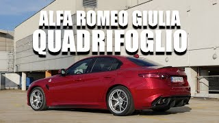 Alfa Romeo Giulia Quadrifoglio (ENG) - Test Drive and Review