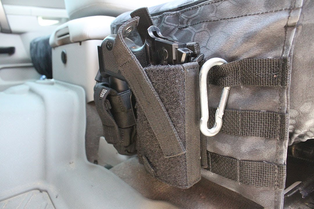 Seat Cover Tactical Pistol Pockets Youtube