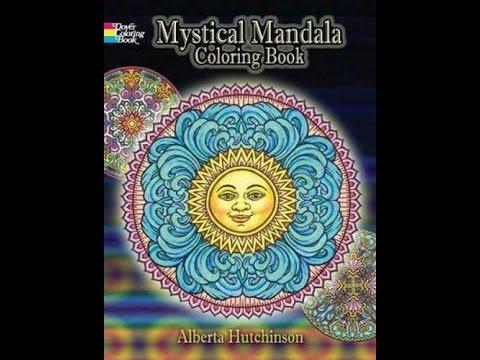 Flip Through Dover Mystical Mandalas Coloring Book