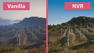 GTA 5 – NaturalVision Remastered vs. Vanilla Graphics Mod Comparison