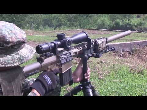 US and  Philippine Marines  Conduct  Fully Automatic  Armament  Live  Fire