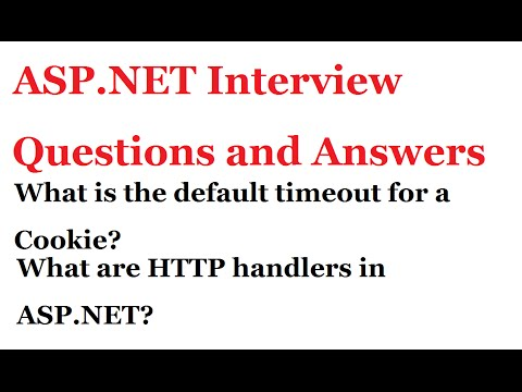 ASP.NET Interview Questions and Answers | What are HTTP handlers in ASP.NET?