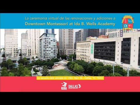 La ceremonia virtual de las renovaciones y adiciones a Downtown Montessori at Ida B. Wells Academy