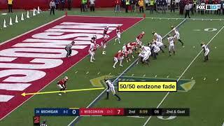 Michigan Football: 50 50 Endzone Fade