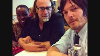The Walking Dead SDCC 2013 Greg Nicotero Danai Gurira Norman Reedus Thumbnail