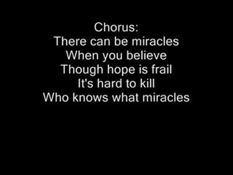 When You Believe-Instrumental-Lyrics