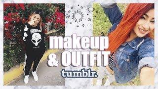 Makeup & Outfit TUMBLR ♡ NYA RAWR