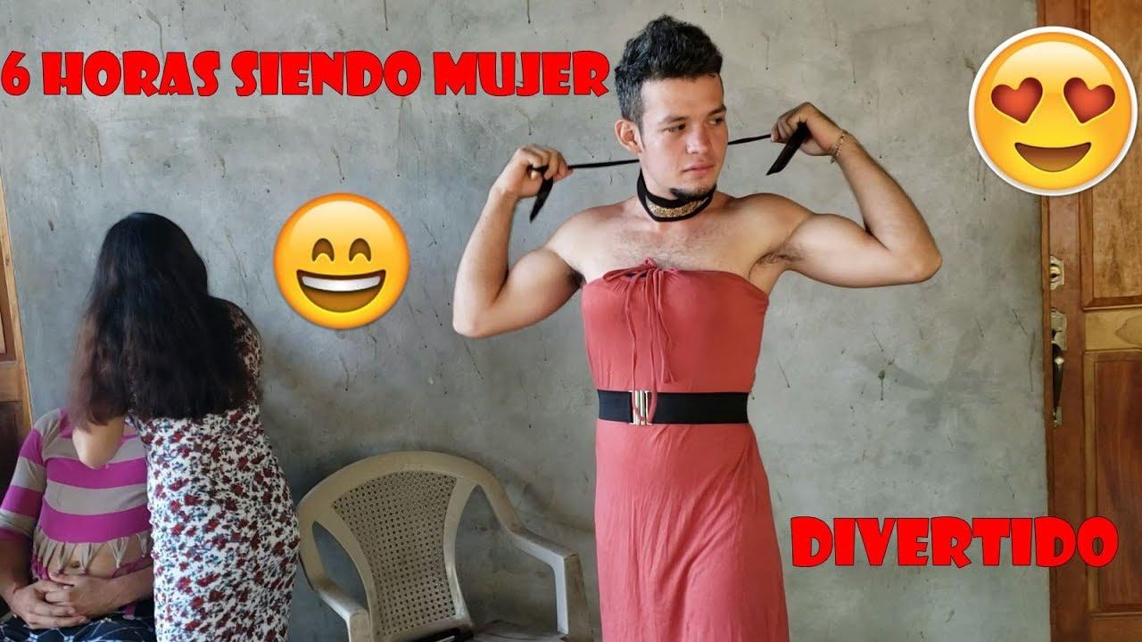 Concurso De Belleza Con Hombres Vestidos De Mujerque Bello Es Ser Mujer