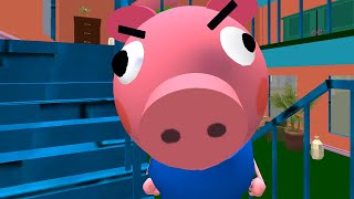 Piggy Neighbor. Family Escape Obby House 3D - Gameplay Walkthrough Level 11 (Android,iOS)