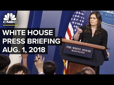 White House Holds Daily Press Briefing - Aug. 1, 2018