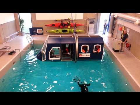 Helicopter Crash Simulator. Offshore Course at Falk Nutec, Trondheim. Part 2.
